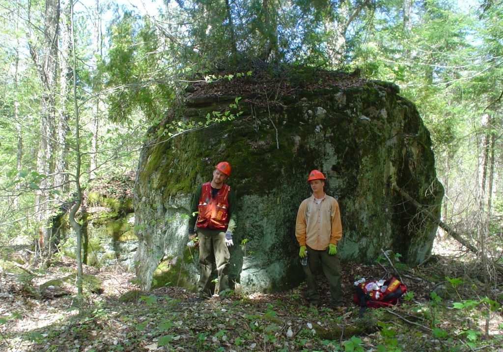 Darrin Lusk and Anthony Hobbs near Large Rock