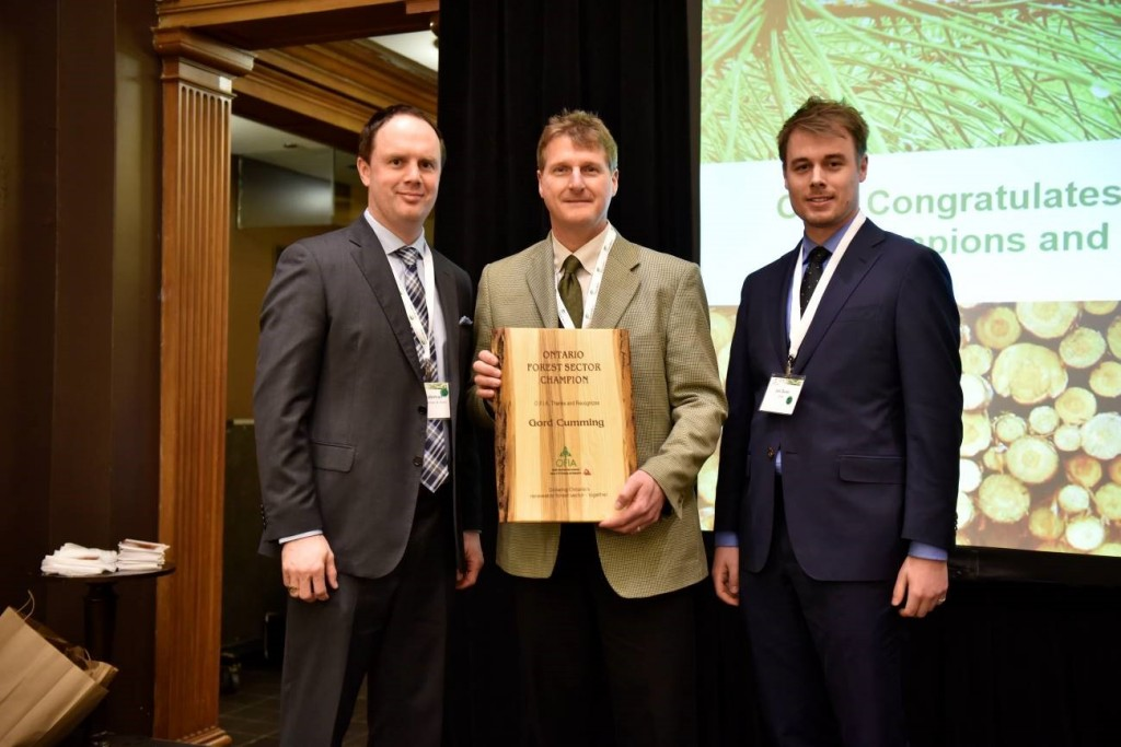 AFA Chief Forester receives 2016 Ontario Forest Sector Champion Award