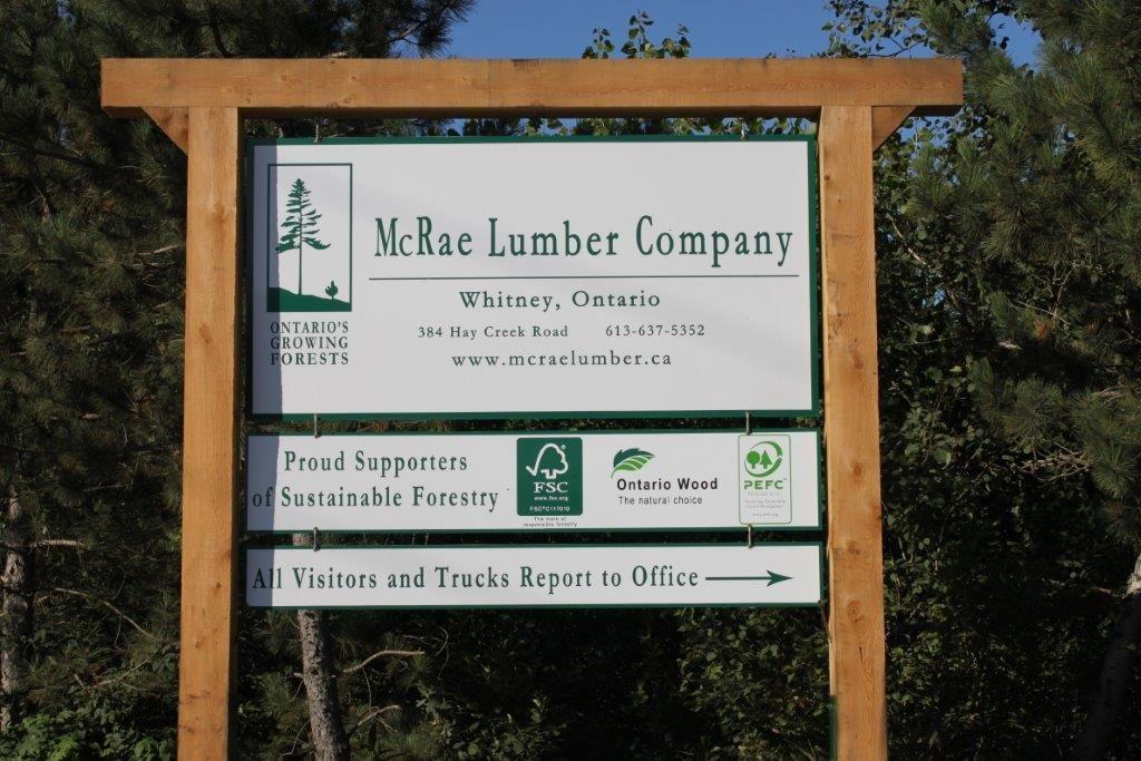McRae Lumber sign